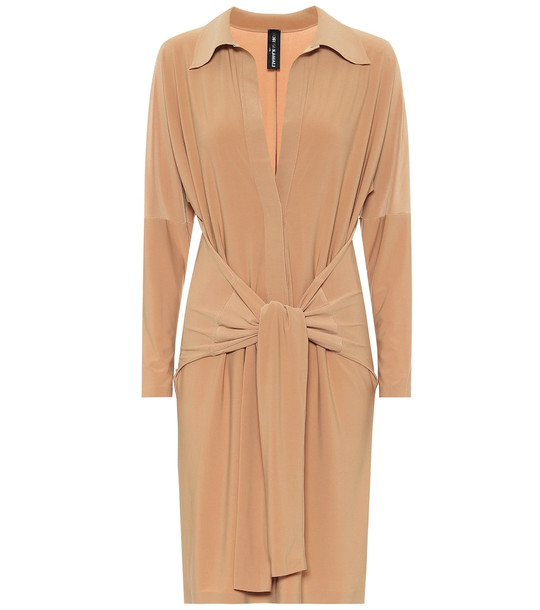Norma Kamali Stretch-knit dress in beige