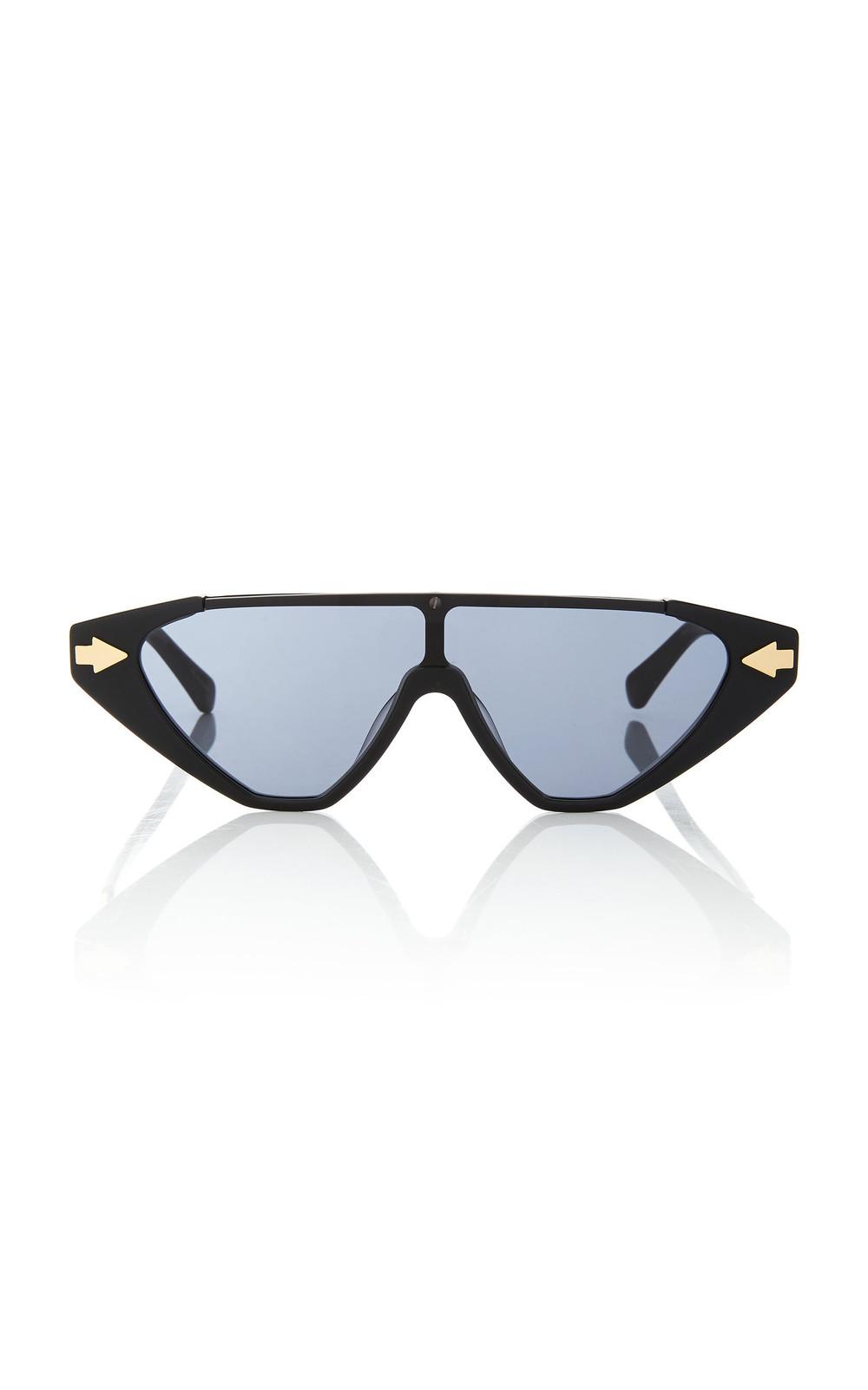 Karen Walker Hallelujah Aviator-Style Acetate Sunglasses in black