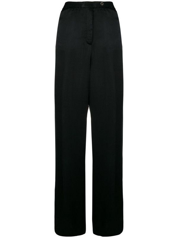 Emanuel Ungaro Pre-Owned straight-leg trousers in black