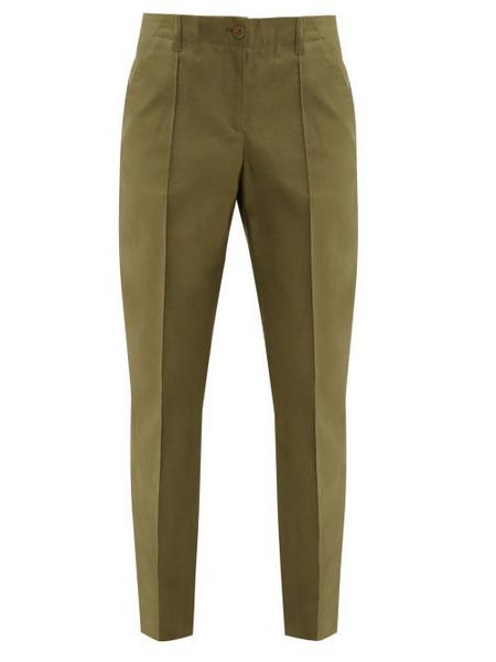 A.P.C. A.p.c. - Augusta Straight Leg Cotton Trousers - Womens - Khaki