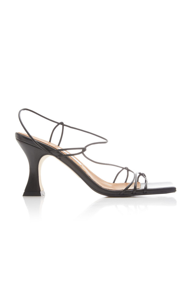 Miista Sally Leather Sandals in black