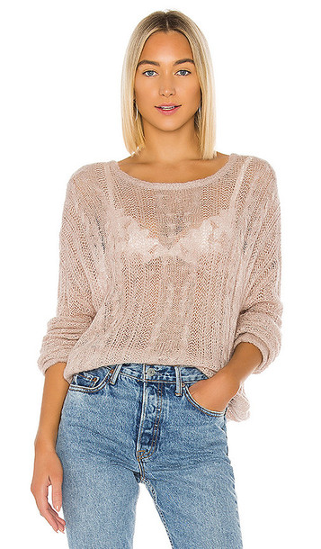 Free People Angel Soft Pullover in Mauve in neutral