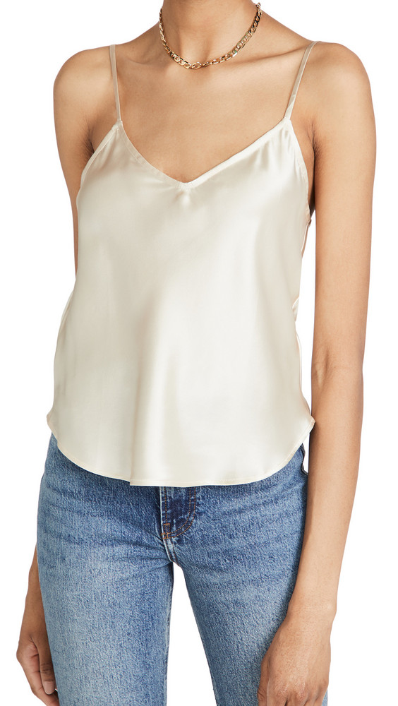 Reformation Teddy Top in ivory
