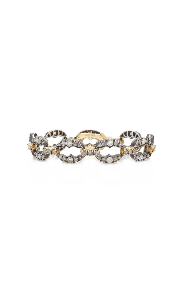 Sylva & Cie Diamond, Sterling Silver, 18K Yellow Gold Bracelet in multi
