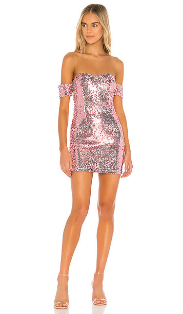 superdown Miki Sweetheart Mini Dress in Pink