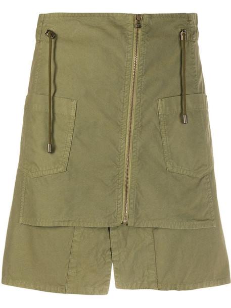 Mr & Mrs Italy zipped mini skirt in green