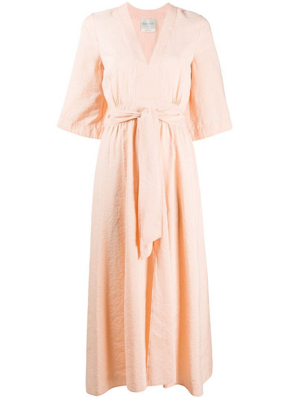 Forte Forte v-neck midi dress in pink