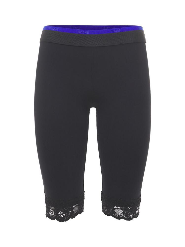 KOCHE' Fitted Jersey Biker Shorts in black