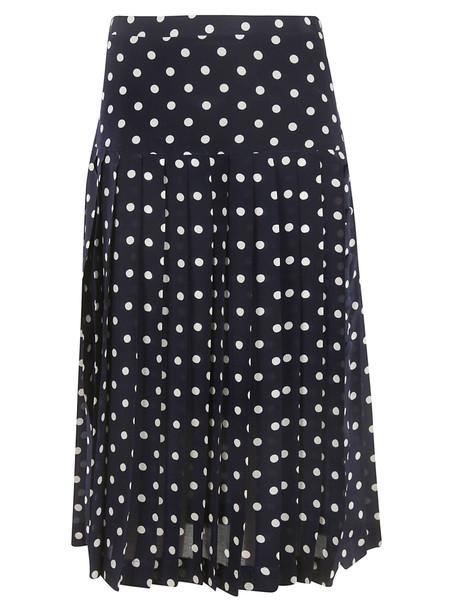 Alessandra Rich Polka Dot Skirt in blue / white