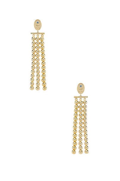 Wanderlust + Co Luna Drop Earrings in gold / metallic