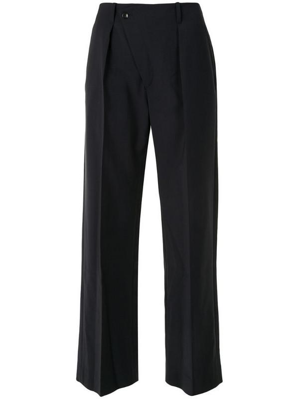 Deveaux Tina wide-leg trousers in blue