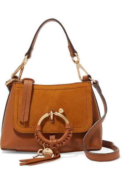 See By Chloé See By Chloé - Joan Mini Textured-leather And Suede Shoulder Bag - Tan