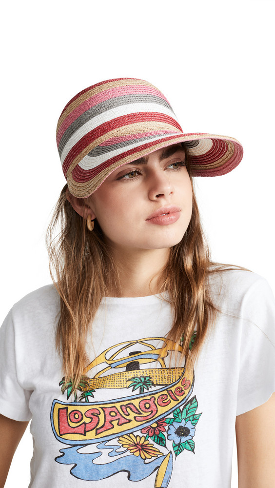 Rafaello Bettini Braid Hat in natural / red