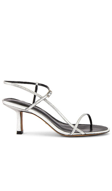 Tony Bianco Caprice Sandal in Metallic Silver