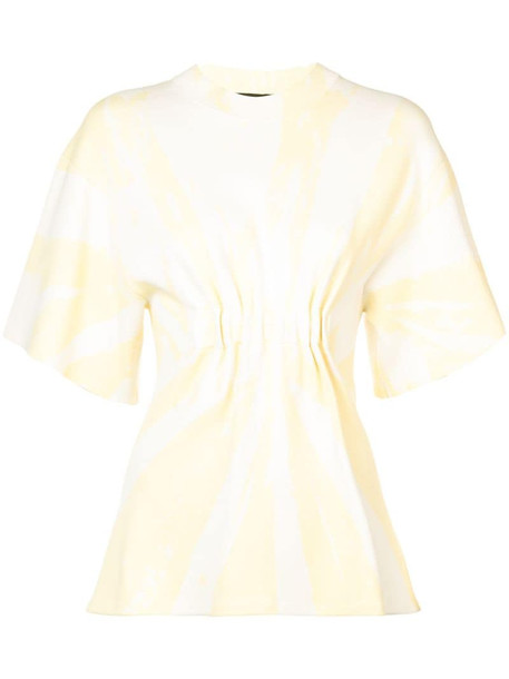 Proenza Schouler Tie Dye Knit Ruched Top in yellow