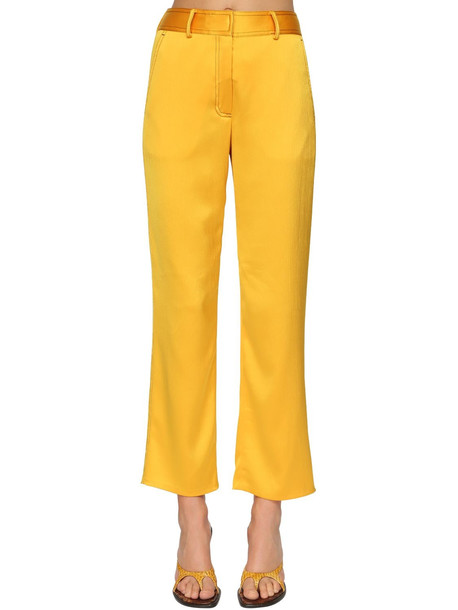 SIES MARJAN Cropped High Waist Pants in yellow