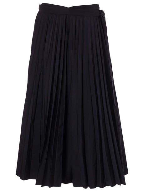 Valentino Pleated Mid-length Skirt in nero