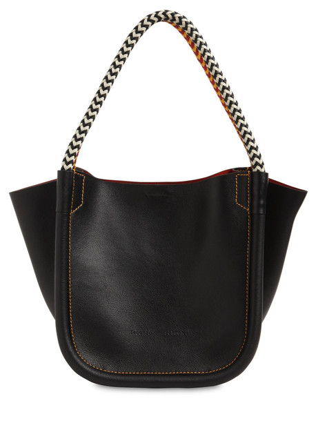 PROENZA SCHOULER Xs Superlux Leather Tote Bag in black
