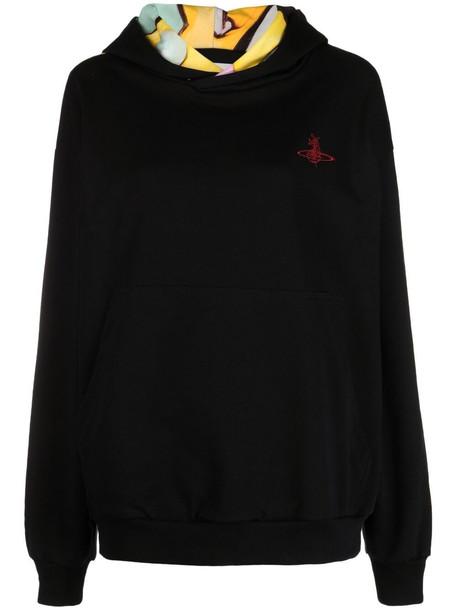 Vivienne Westwood rear graphic print hoodie - Black