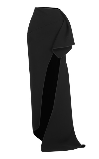 Maticevski Dream Cady Maxi Skirt Size: 6 in black