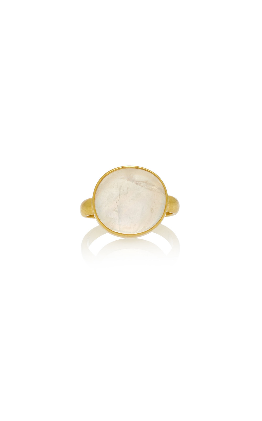 Pippa Small Moon Egg Greek Ring in white