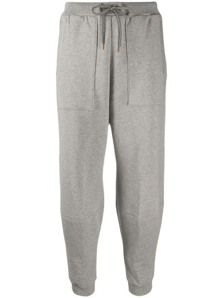 Stella McCartney cotton track pants in grey