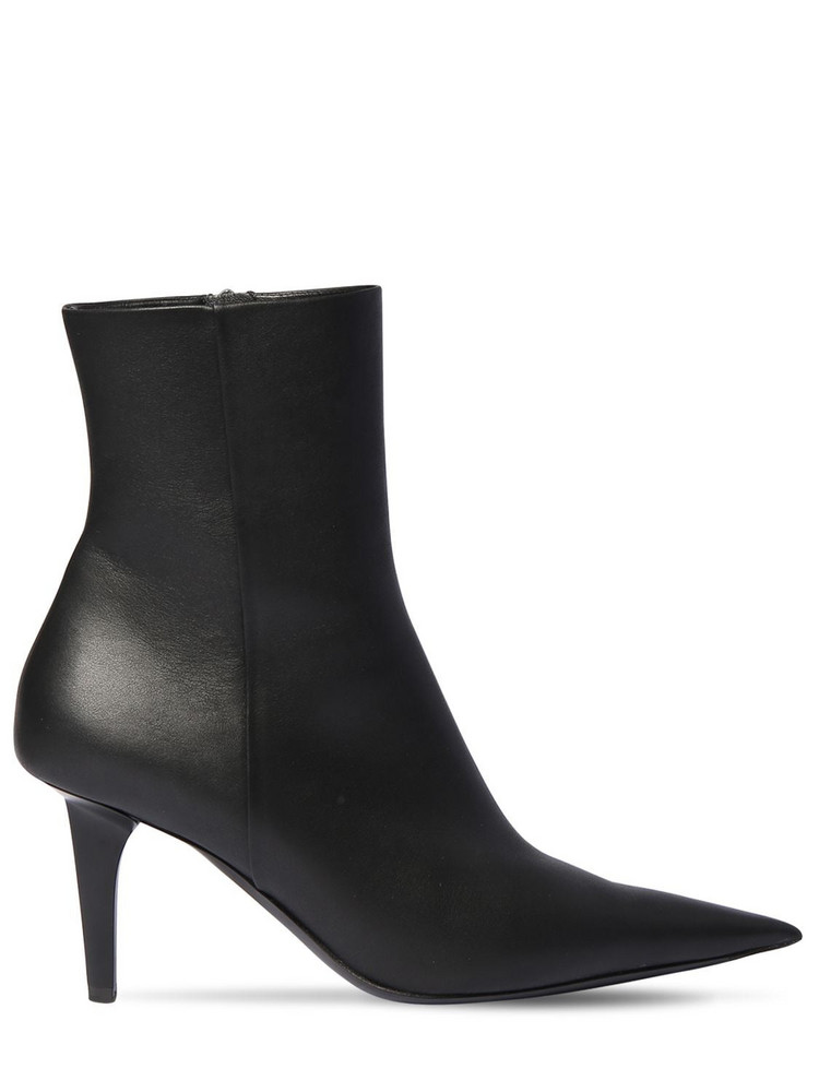 BALENCIAGA 80mm Shark Leather Ankle Boots in black