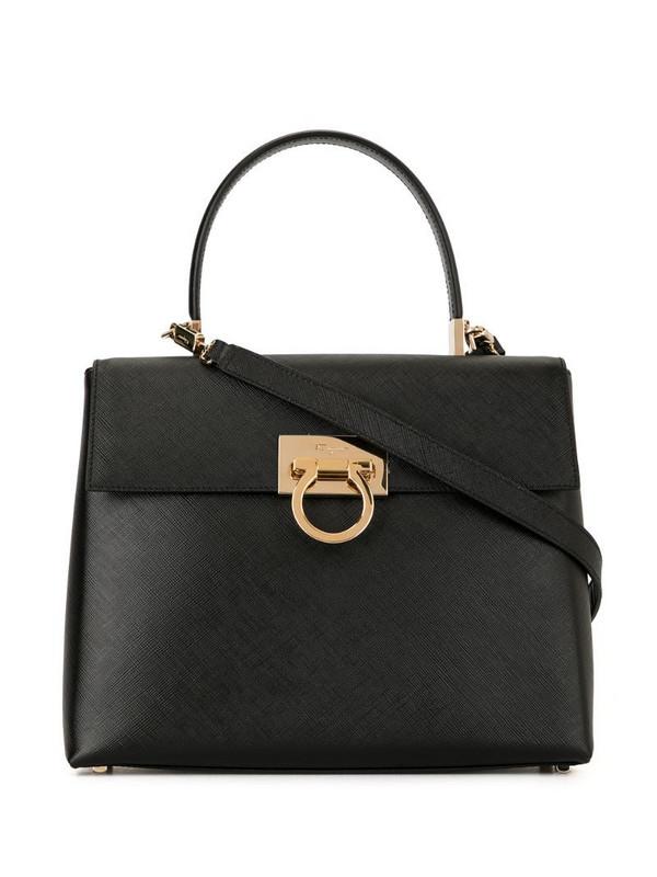 Salvatore Ferragamo Pre-Owned Gancini shoulder bag in black