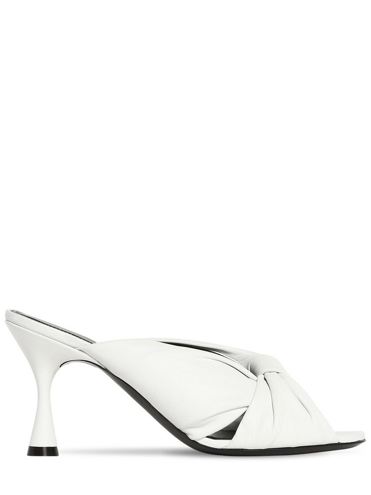 BALENCIAGA 80mm Drapy Leather Sandals in white