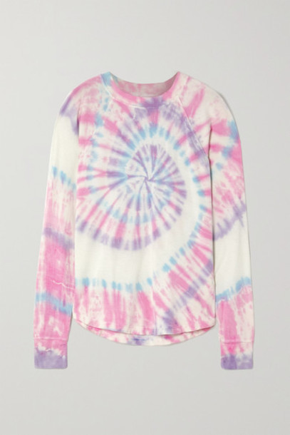 Splits59 - Warm Up Tie-dyed Stretch-modal Sweatshirt - Blue
