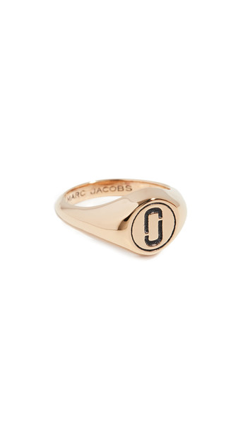 Marc Jacobs Double J Signet Ring in gold
