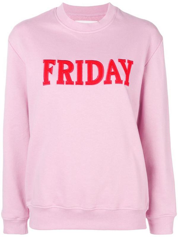 Alberta Ferretti Friday jersey sweater in pink