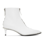 low boots,white,shoes