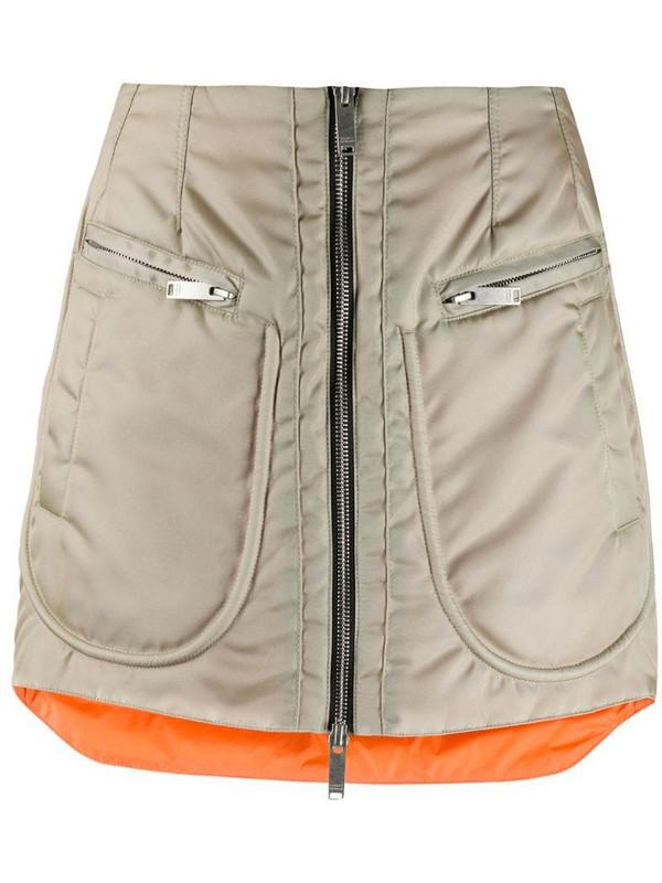 Marcelo Burlon County of Milan bomber zip-up miniskirt in neutrals