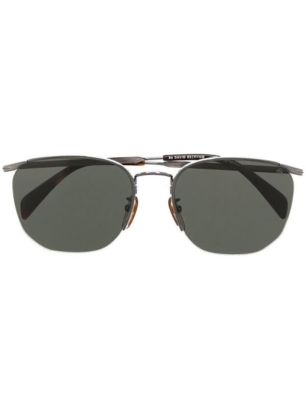 Eyewear by David Beckham semi-rimless rectangular-frame sunglasses in black