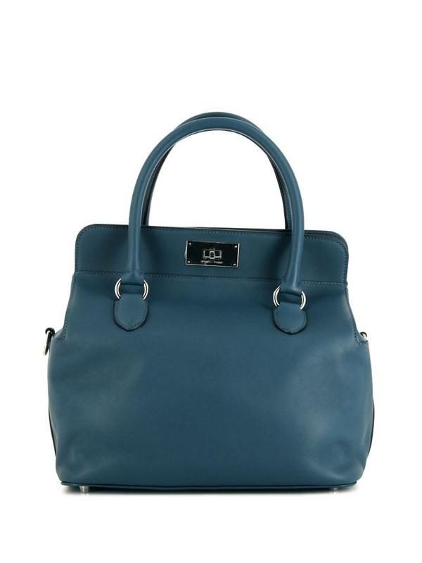 Hermès pre-owned medium Tool Box tote in blue