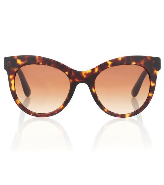 Dolce & Gabbana Cat-eye sunglasses in brown