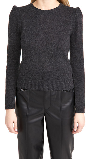 FRAME Madeline Cashmere Sweater in charcoal