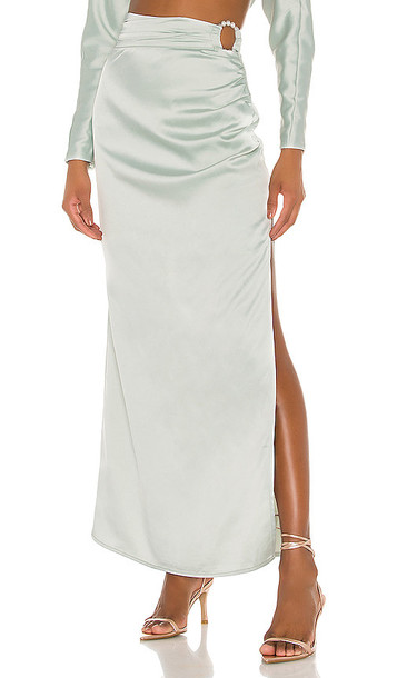 Song of Style Finch Maxi Skirt in Mint
