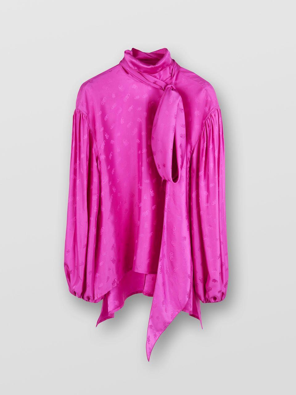 CHLOÉ Lavallière blouse Women's MEADOW MAUVE 100% Silk