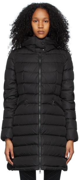 Moncler Black Down Flammette Coat