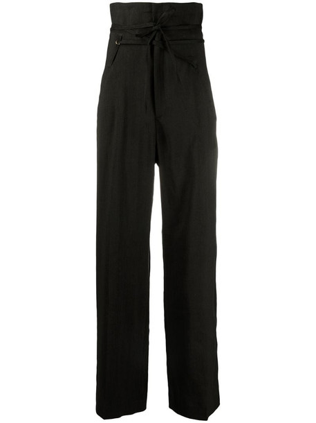 Jacquemus high-waisted wide-leg trousers in black