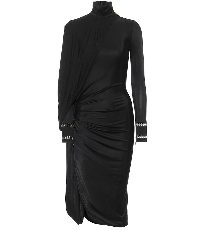 Burberry Stretch-jersey turtleneck dress in black