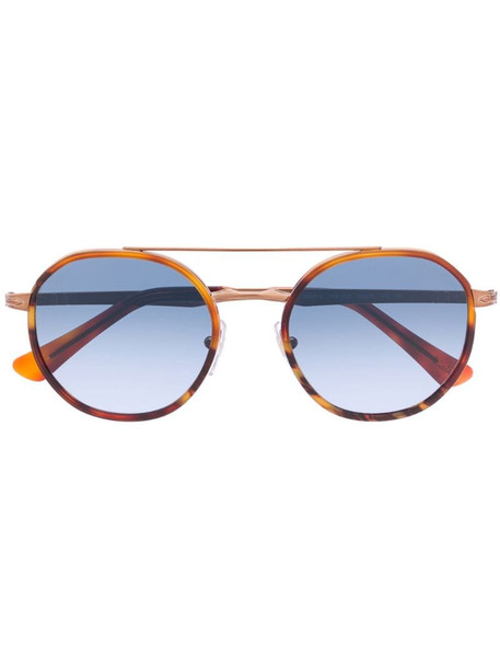 Persol round framed sunglasses in brown