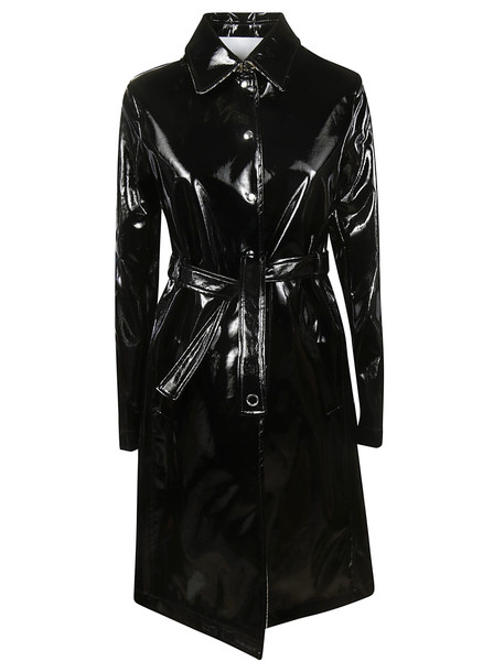 Paco Rabanne Tie Waist Coat in nero