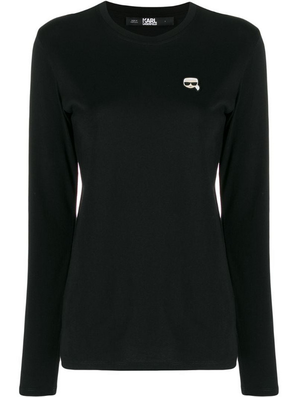 Karl Lagerfeld Ikonik longsleeve top in black
