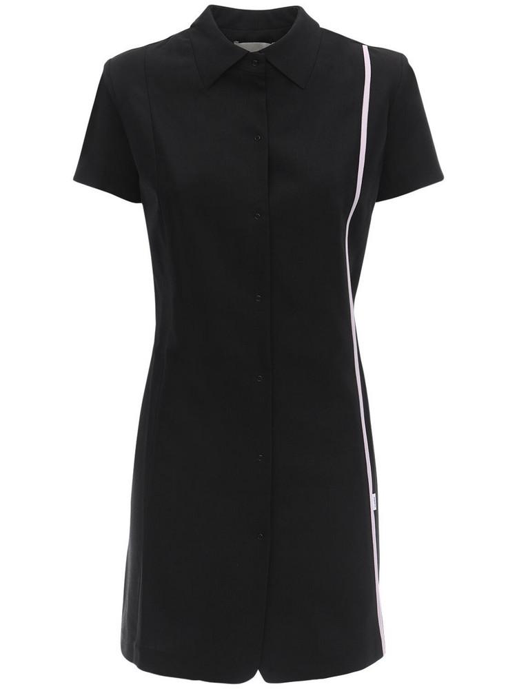COPERNI Cool Wool Mini Shirt Dress in black
