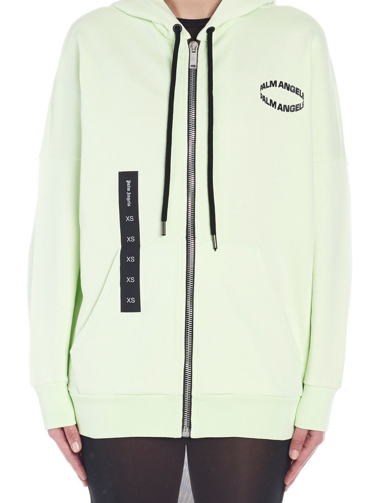 Palm Angels 'cirle' Hoodie in green