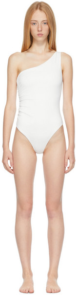 SIR. SIR. White Hendry One-Piece Swimsuit in ivory