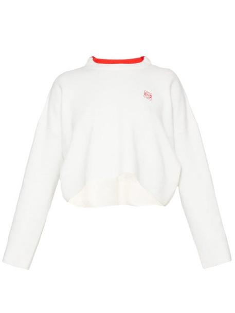 Loewe - Anagram-embroidered Sweater - Womens - White